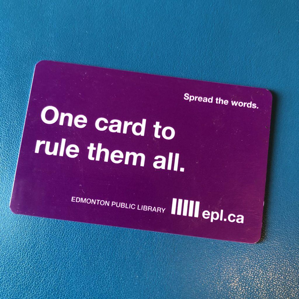 Edmonton Public Library Card